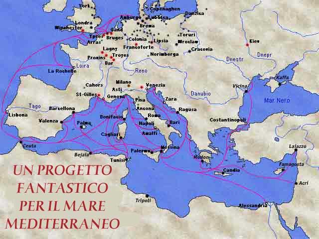 Mare Mediterraneo Cartina.Un Progetto Fantastico Per Il Mare Mediterraneo
