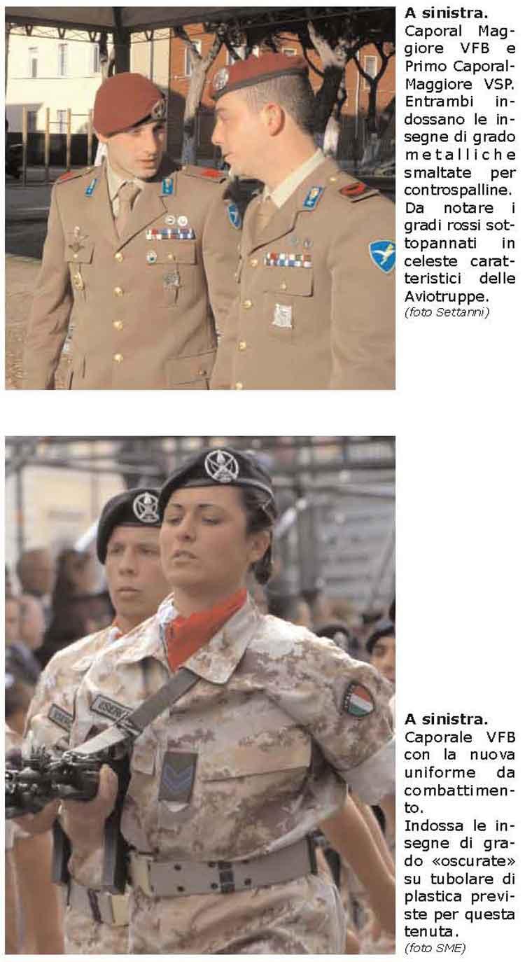 Gradi dell'Esercito Italiano - distintivi di incarico e ...