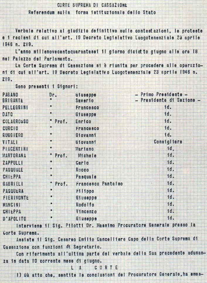 proclamazione della Repubblica 1946